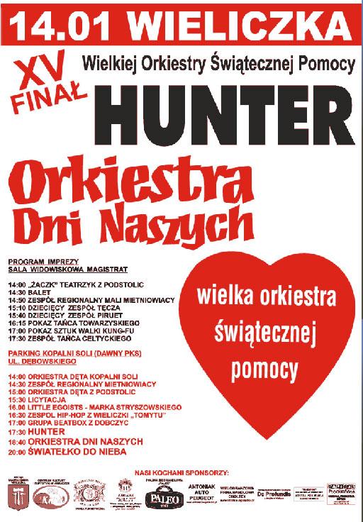 HUNTER podczas finału Wielkiej Orkiestry Świątecznej Pomocy
