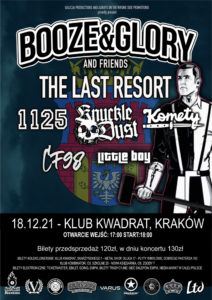 Booze & Glory, Last Resort, Knuckledust, Komety, 1125, CF98, LittleBoy - Galicja Productions